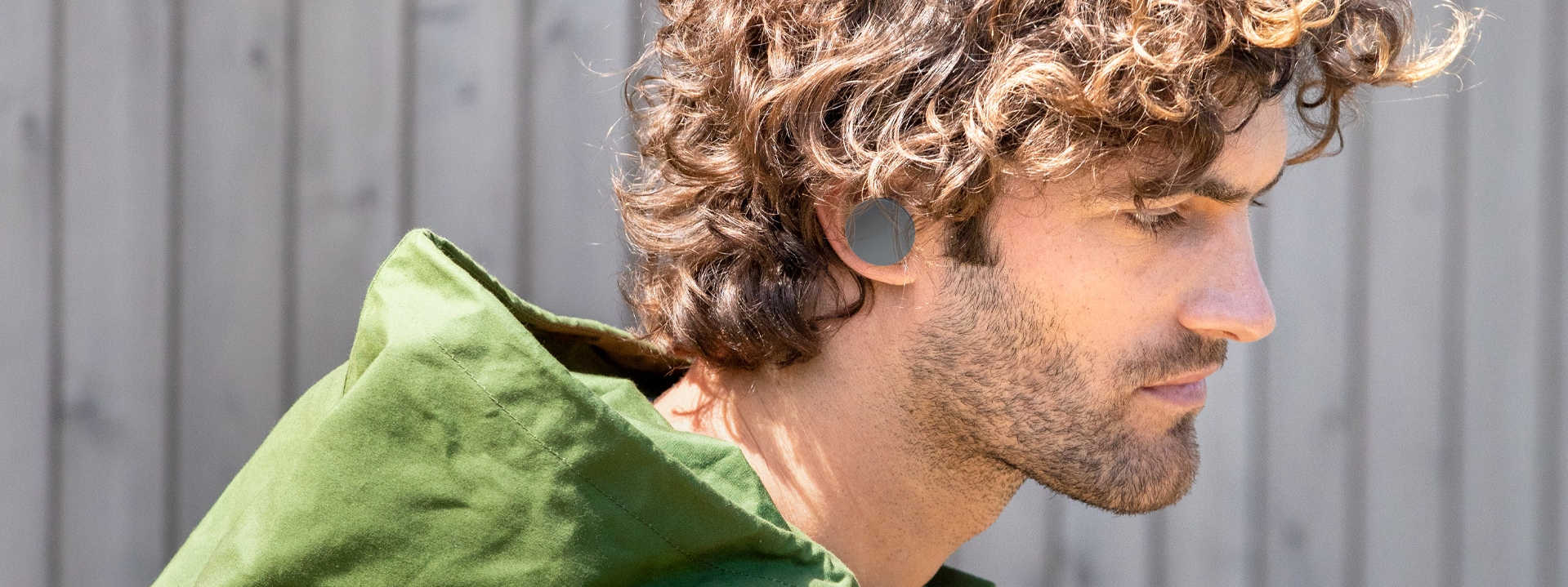 A person with Surface Earbuds