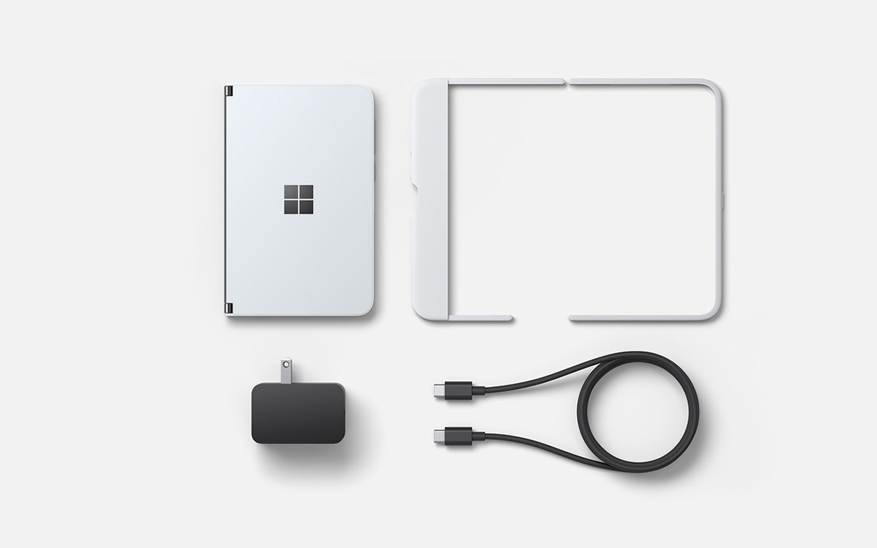 Surface Duo, Surface Duo bumper, Surface Duo power supply