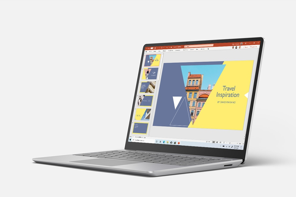 Surface Laptop Go avec PowerPoint