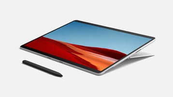 Surface Pro X مع لوحة مفاتيح Surface Pro X Signature مع قلم رفيع
