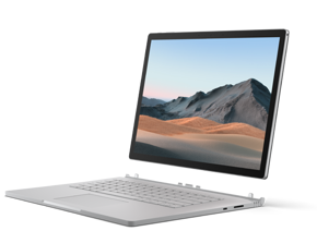 Surface Book 3 with the display detached from the keyboard to show that it can be used as both a laptop and a tablet