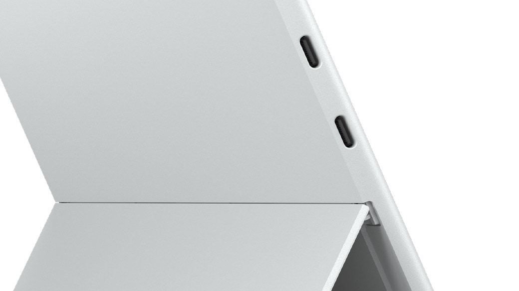 A close-up view of Surface Pro x ports