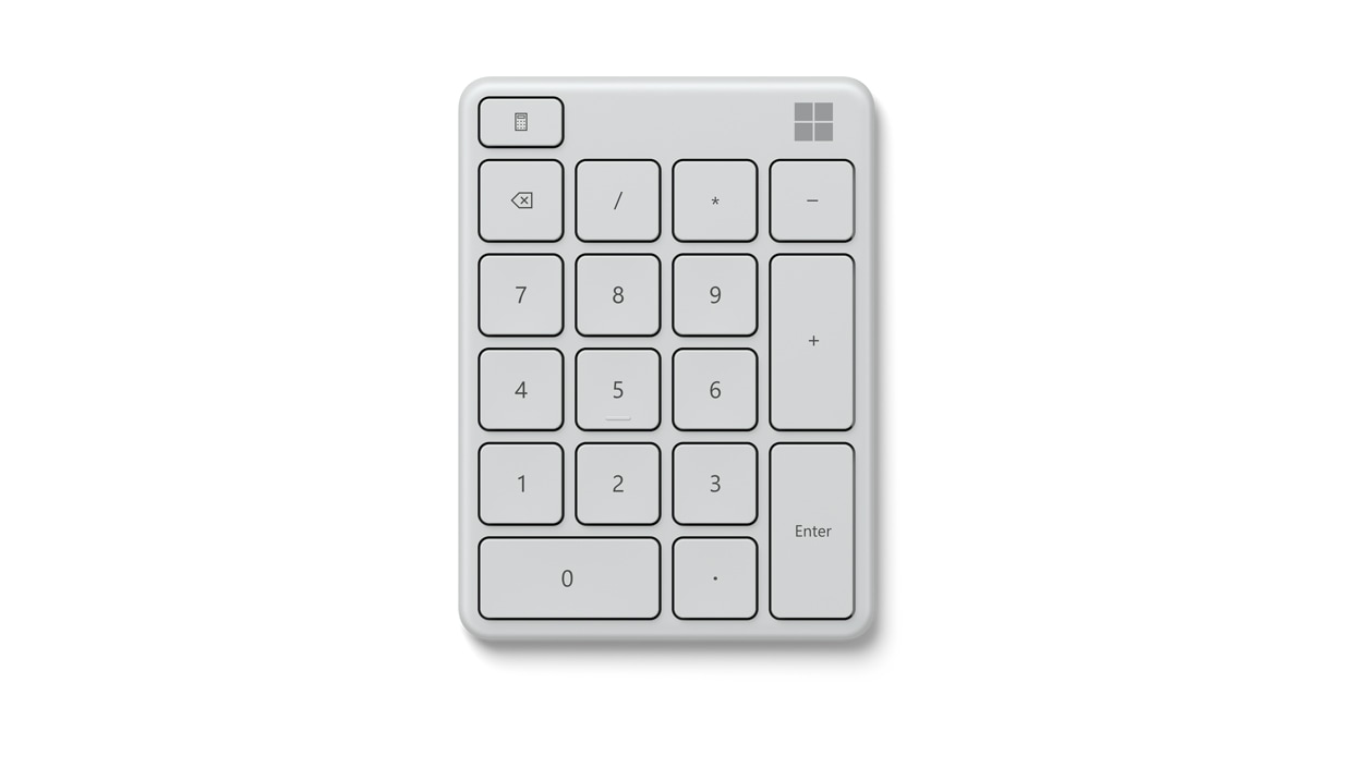 Top view of Monza Grey Microsoft Number Pad.
