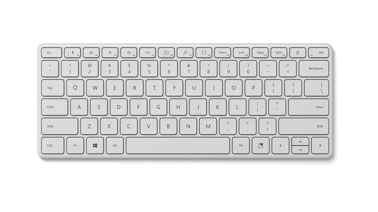 Monza Grey Microsoft Designer Compact Keyboard.