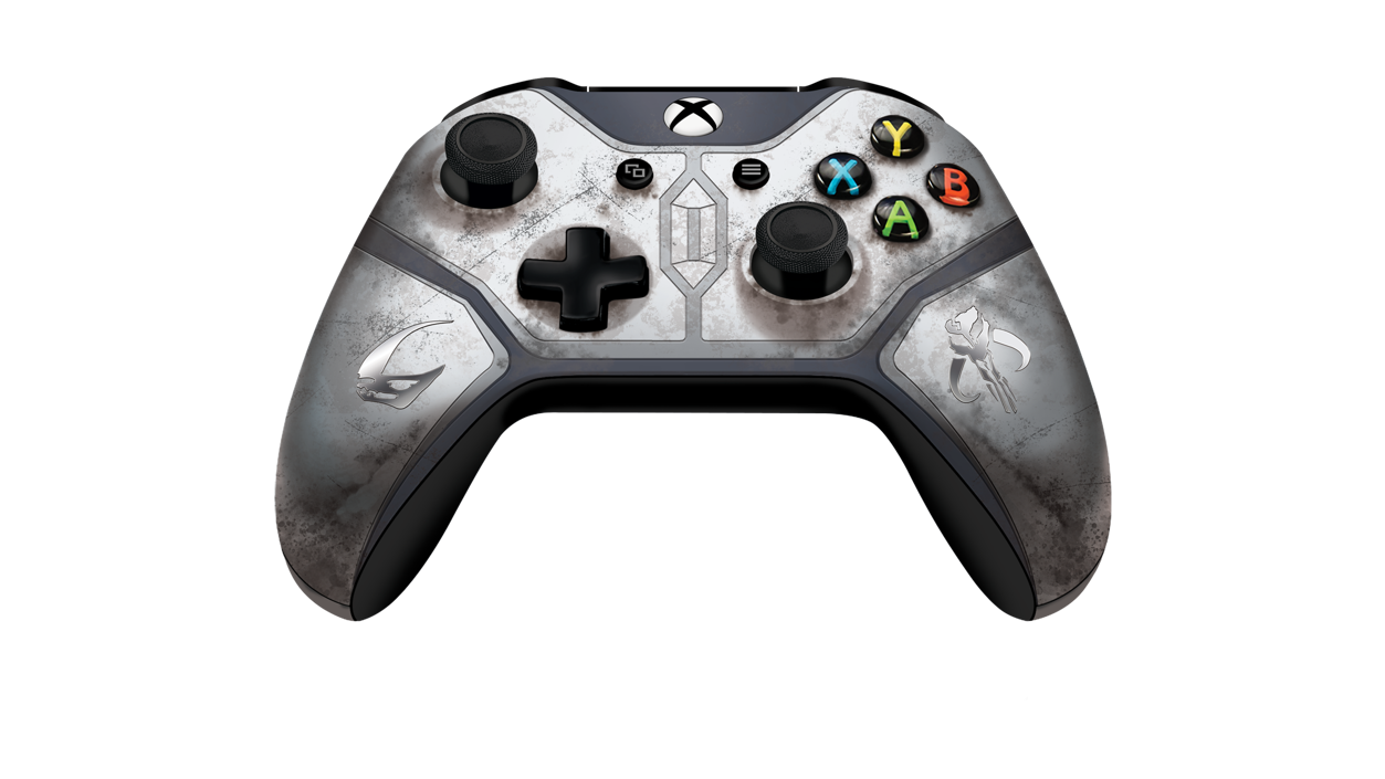 Standalone Front View of Mandalorian Wireless Xbox Controller