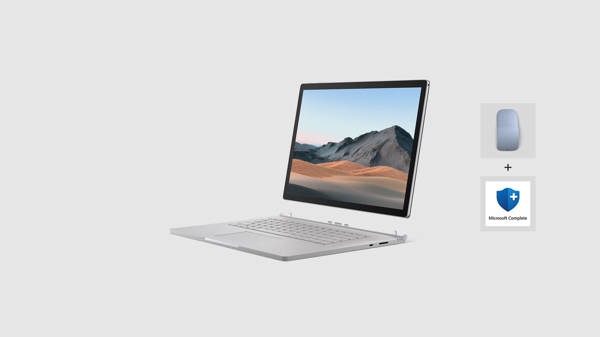 Surface Book 3 with Surface Arc Mouse and Microsoft Complete