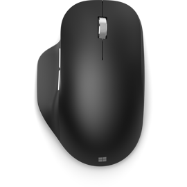 Souris ergonomique Bluetooth® de Microsoft noire.