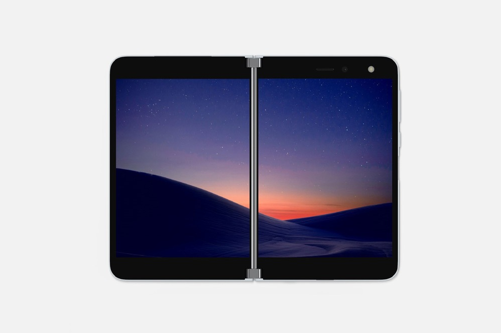 Surface Duo in dual-screen portrait mode