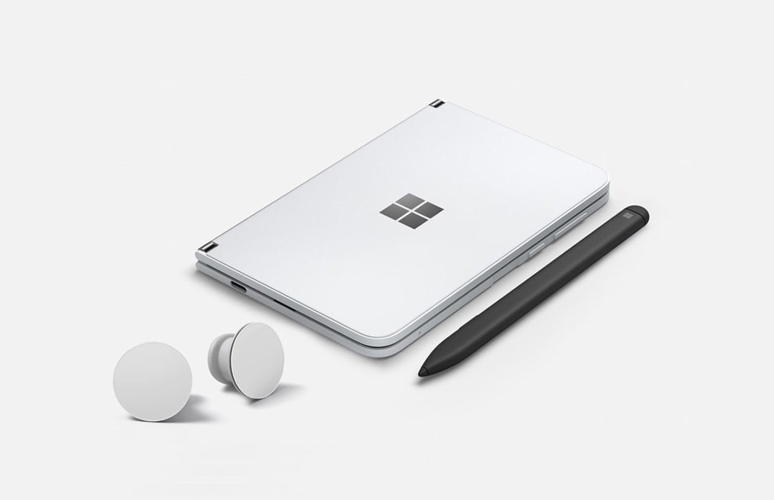 Surface Duo, Surface Earbuds, and Surface Slim Pen