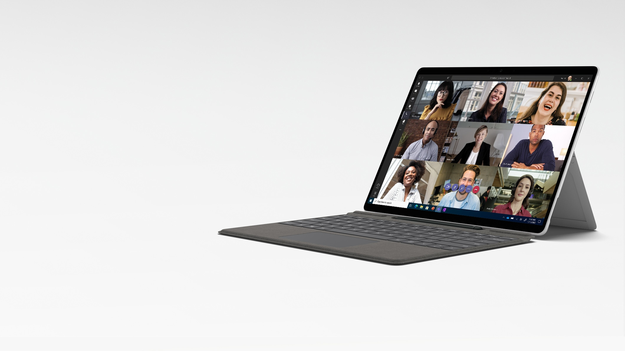 Surface Pro X in Laptop Mode with the Surface Pro X Signature Keyboard