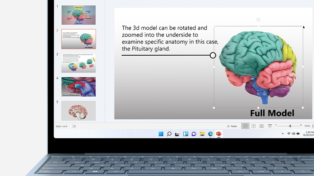 A close-up view of the screen on Surface Laptop Go
