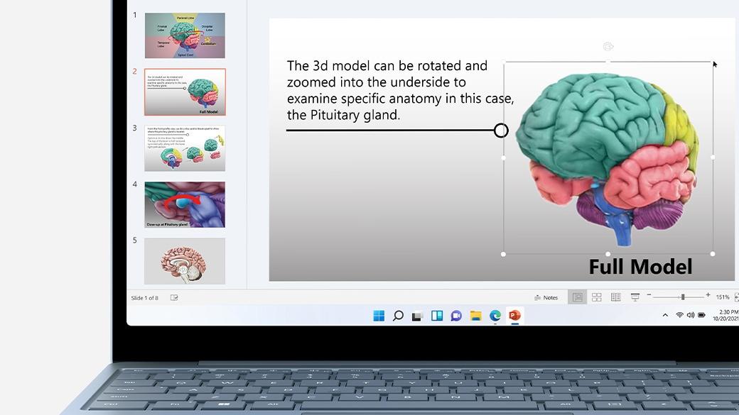 SurfaceLaptop Go のスクリーンのクローズアップ