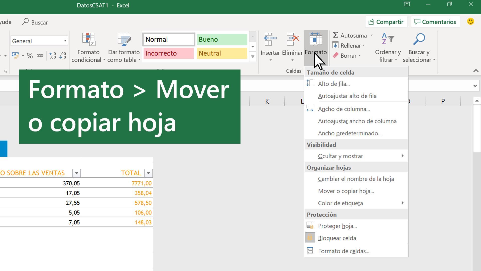 Mover O Copiar Hojas De Cálculo O Los Datos Que Contienen Soporte De Office