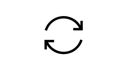 Ein Synchronisierungssymbol in der Cloud.