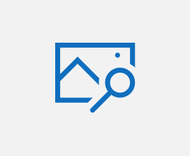 Illustration of a search icon on top of an image icon.