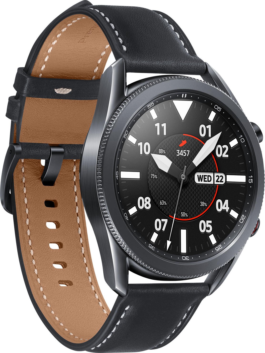 Samsung Galaxy Watch 3 BT Take charge of your day with this sophisticated smart watch that effortlessly tracks your health while keeping you connected.