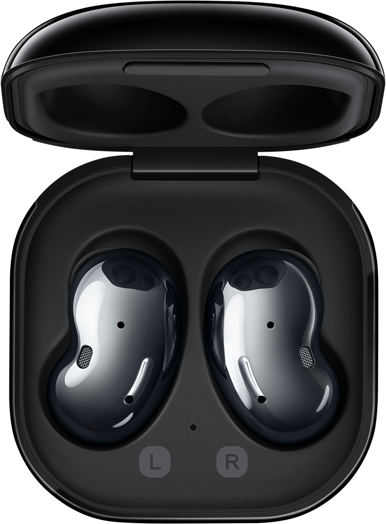 Samsung Galaxy Buds Live Upgrade your sound and style your day with this iconic wireless pair, outfitted with largest Galaxy Buds speaker to date, powerful noise cancellation and all-day battery. Wireless charging case included.