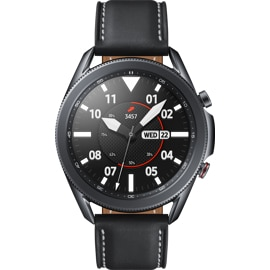 Front view of Samsung Galaxy Watch 3 45mm in black.