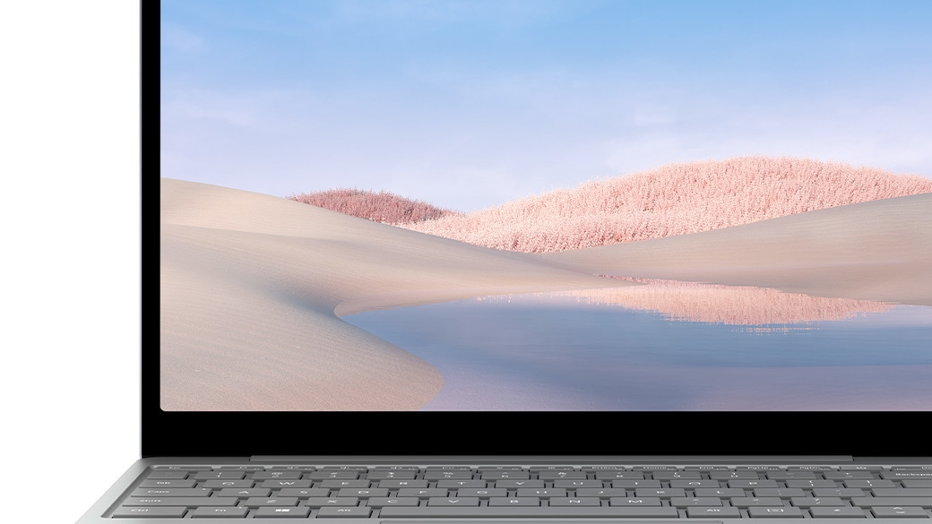 Primo piano dello schermo di Surface Laptop Go