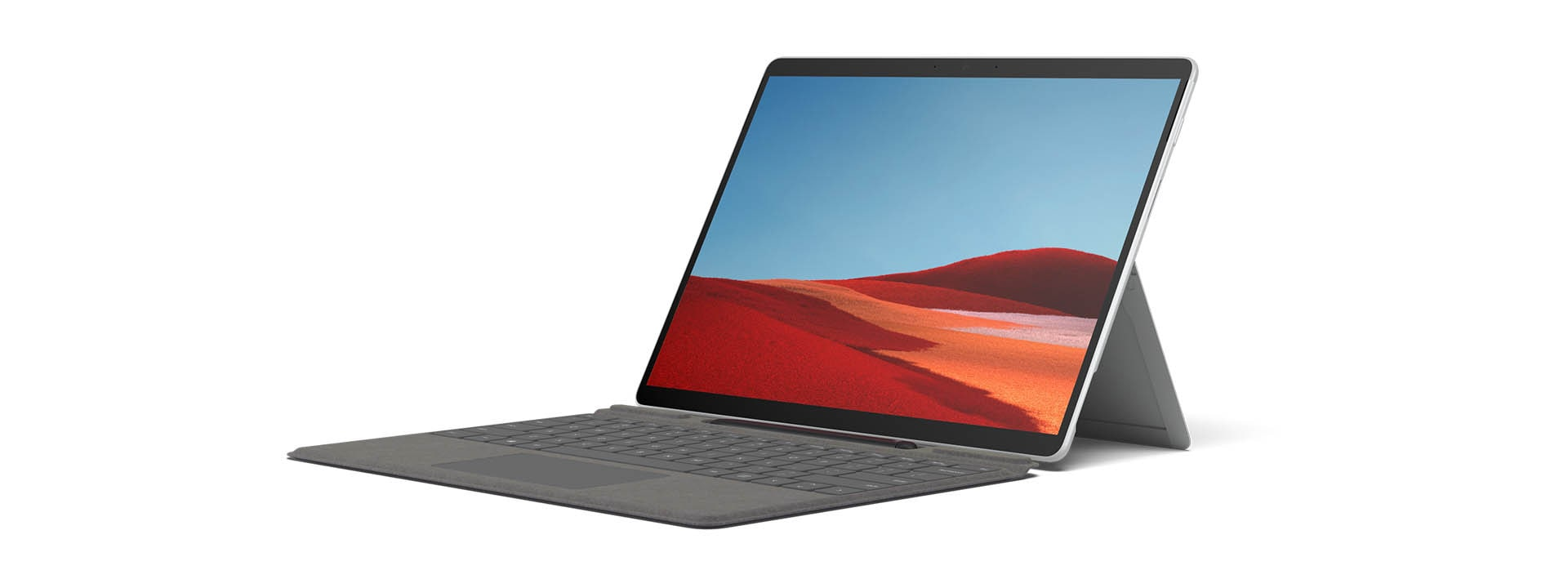 A Surface Pro X in Laptop mode
