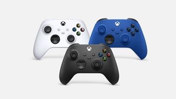 Kontroler bezprzewodowy Xbox - Głęboka czerń, Cybernetyczna biel i Wyrazisty błękit