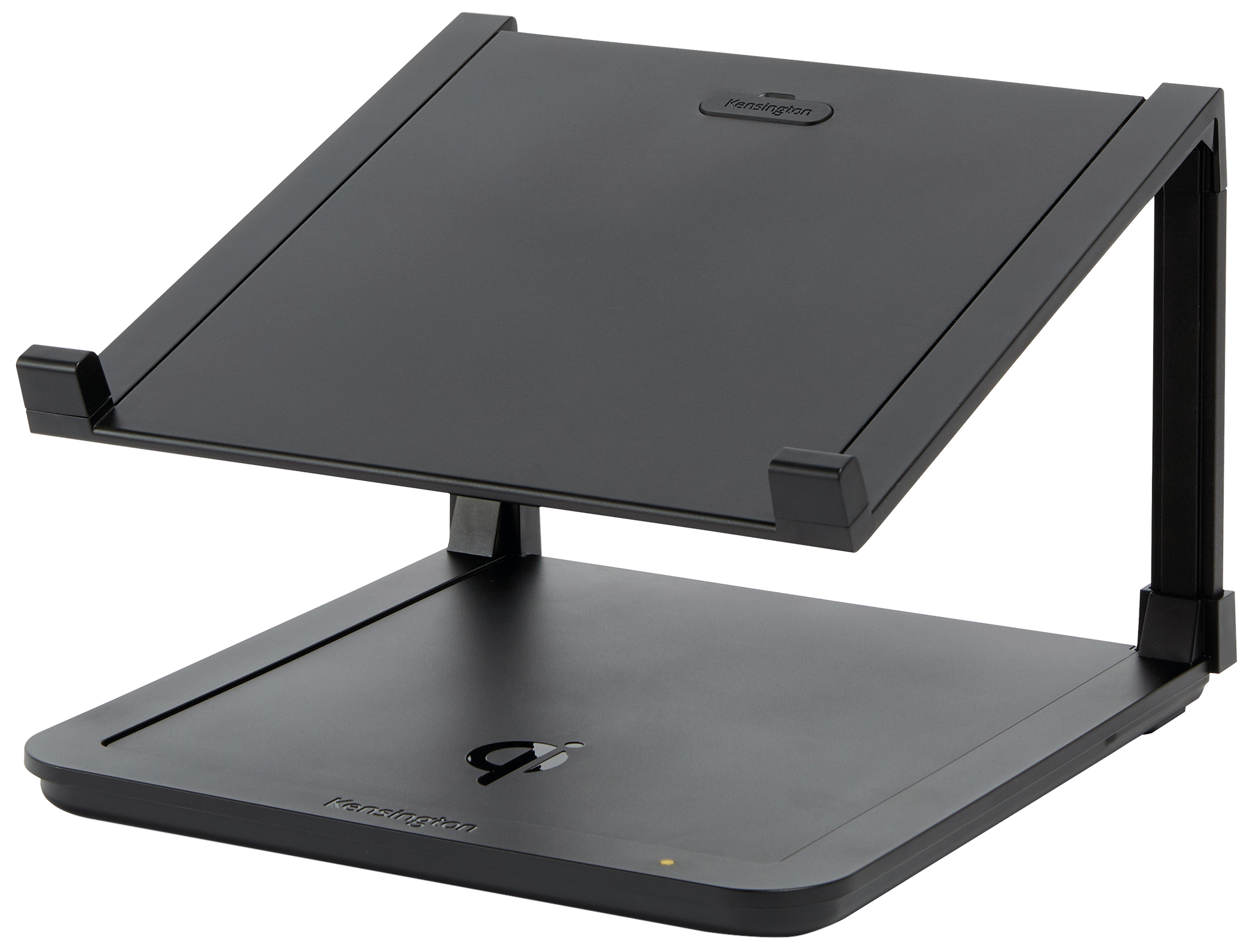 Kensington SmartFit Laptop Riser with Qi Wireless Charging Pad Become a multi-tasking master with this adjustable laptop riser that leaves room for Qi inductive device charging.