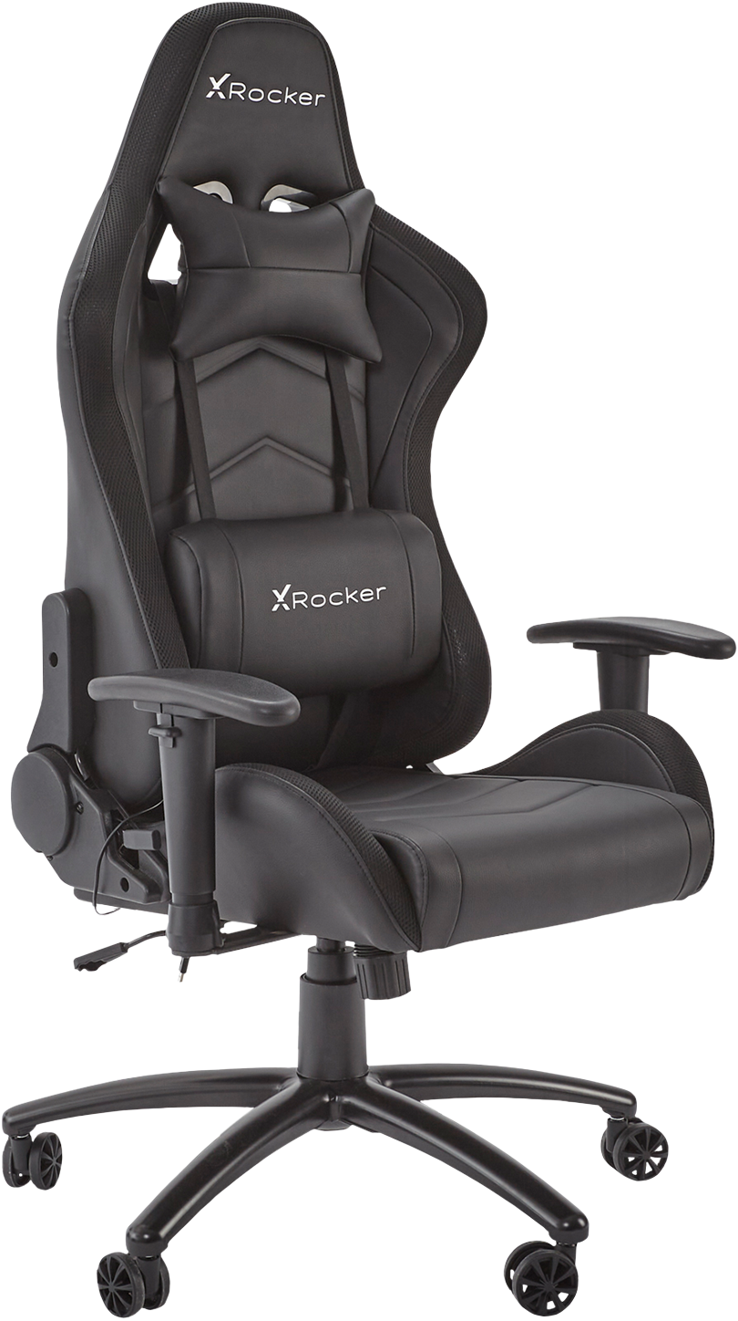 X-Rocker Bravo RGB Gaming Chair Accelerate your gaming set-up with the X-Rocker Bravo RGB, a comfy and cool chair with eye-popping LED lighting.
