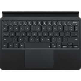 Front view of Samsung Galaxy Tablet S7 Keyboard in Black.