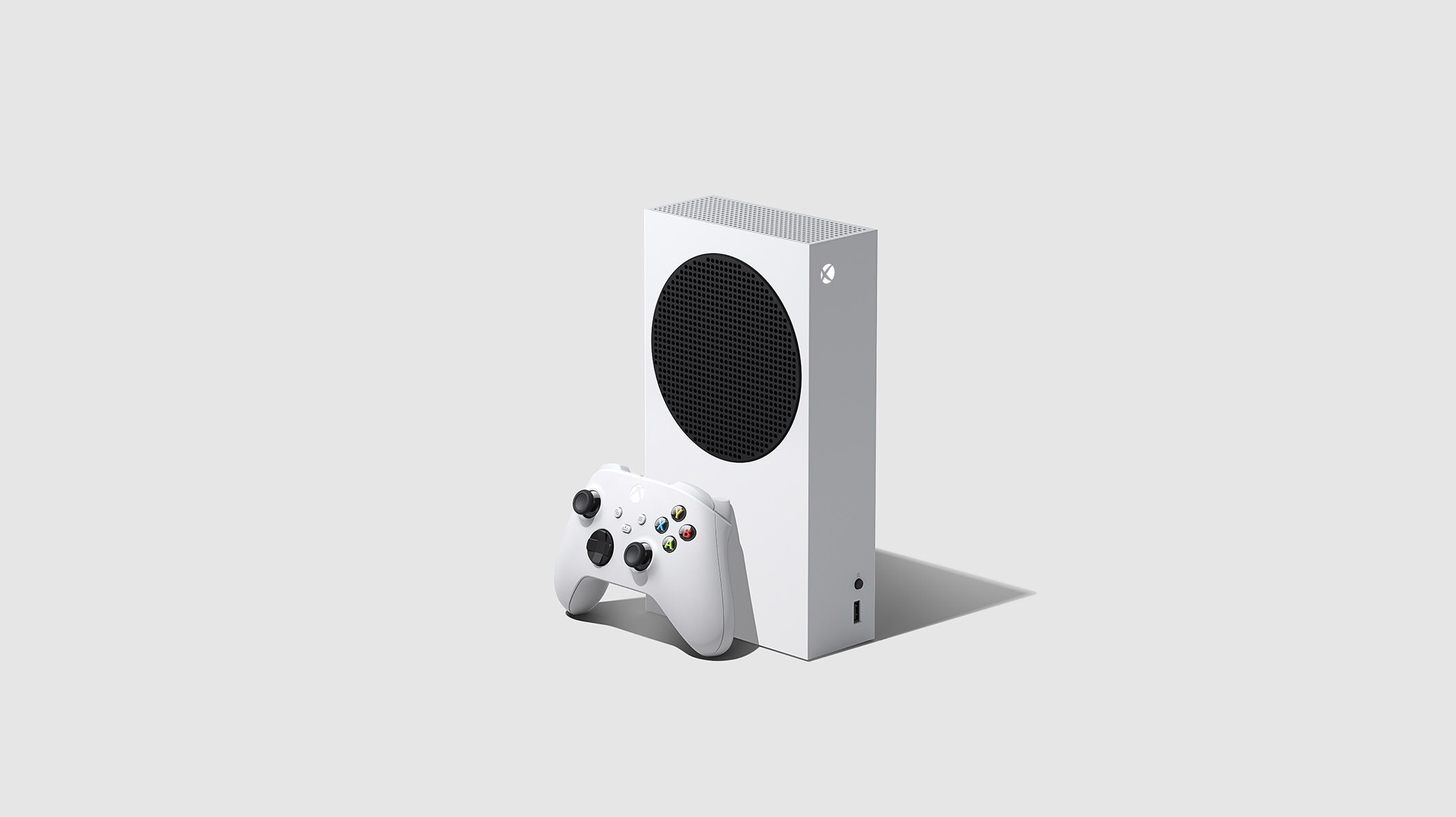 Xbox Series S console with Xbox wireless controller robot white