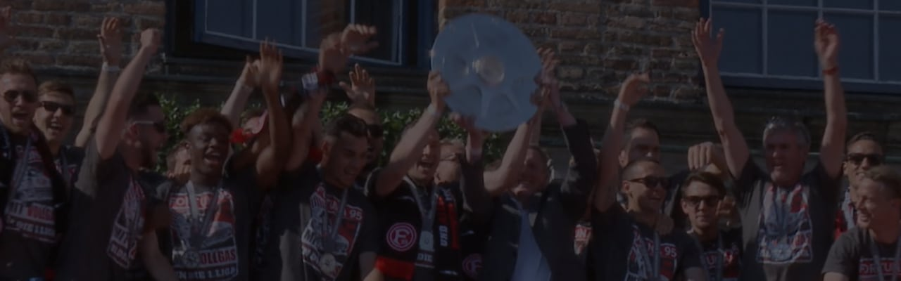 A screenshot of the video about Fortuna Dusseldorf.