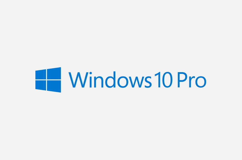 A logo for Windows 10 Pro.