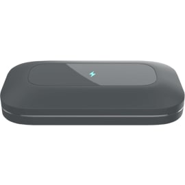 Front view of the view of the PhoneSoap Pro UV Sanitizer - Charcoal