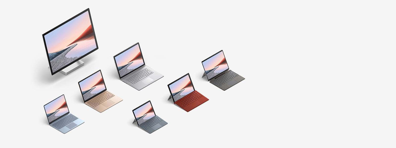 Multiple Surface computers - Surface Pro X, Surface Go 2 and Surface Laptop Go