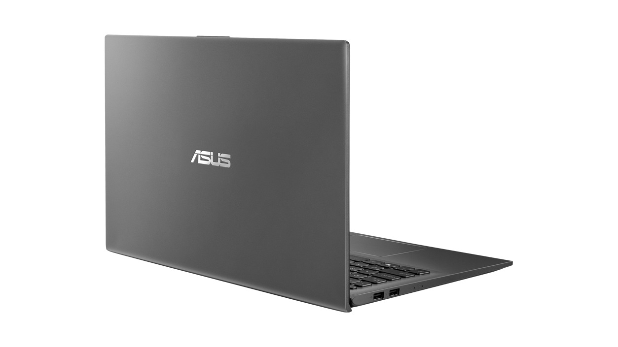 Left rear view of an ASUS VivoBook 15 Thin and Light Laptop.