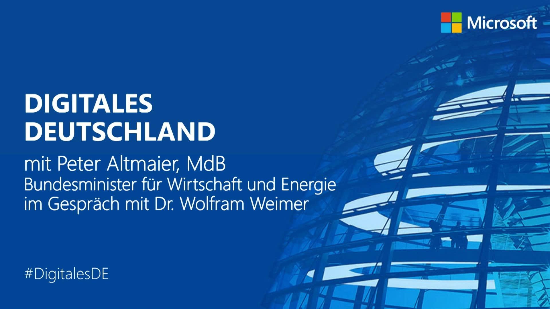 Thumbnail zu Digitales Deutschland mit Peter Altmaier
