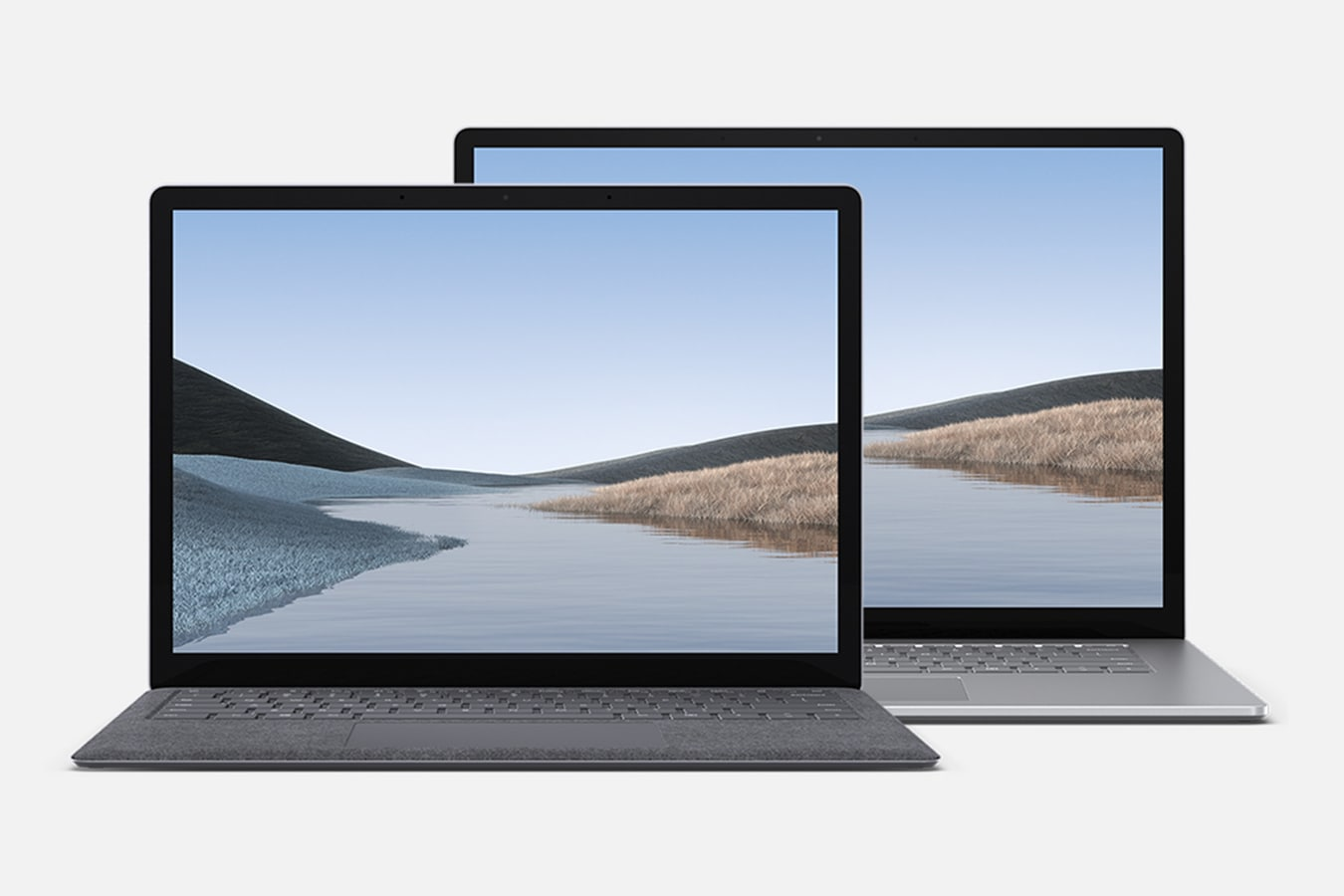 "Surface Laptop 3 shown in 13.5"" and 15"""