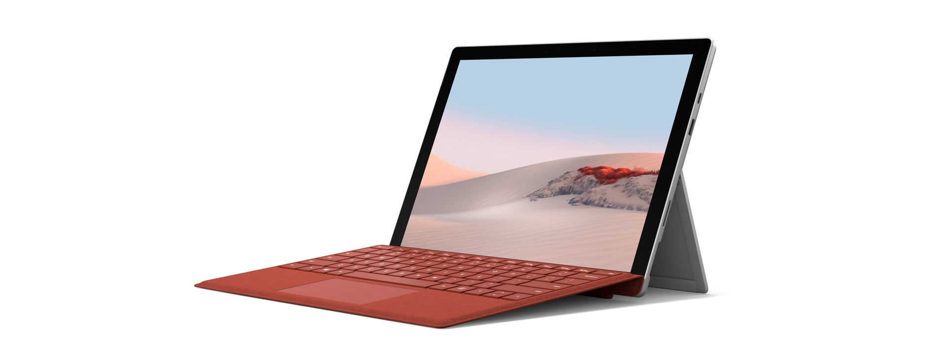 جهاز Surface Pro 7 مزود بلوحة مفاتيح Surface Type Cover بزاوية