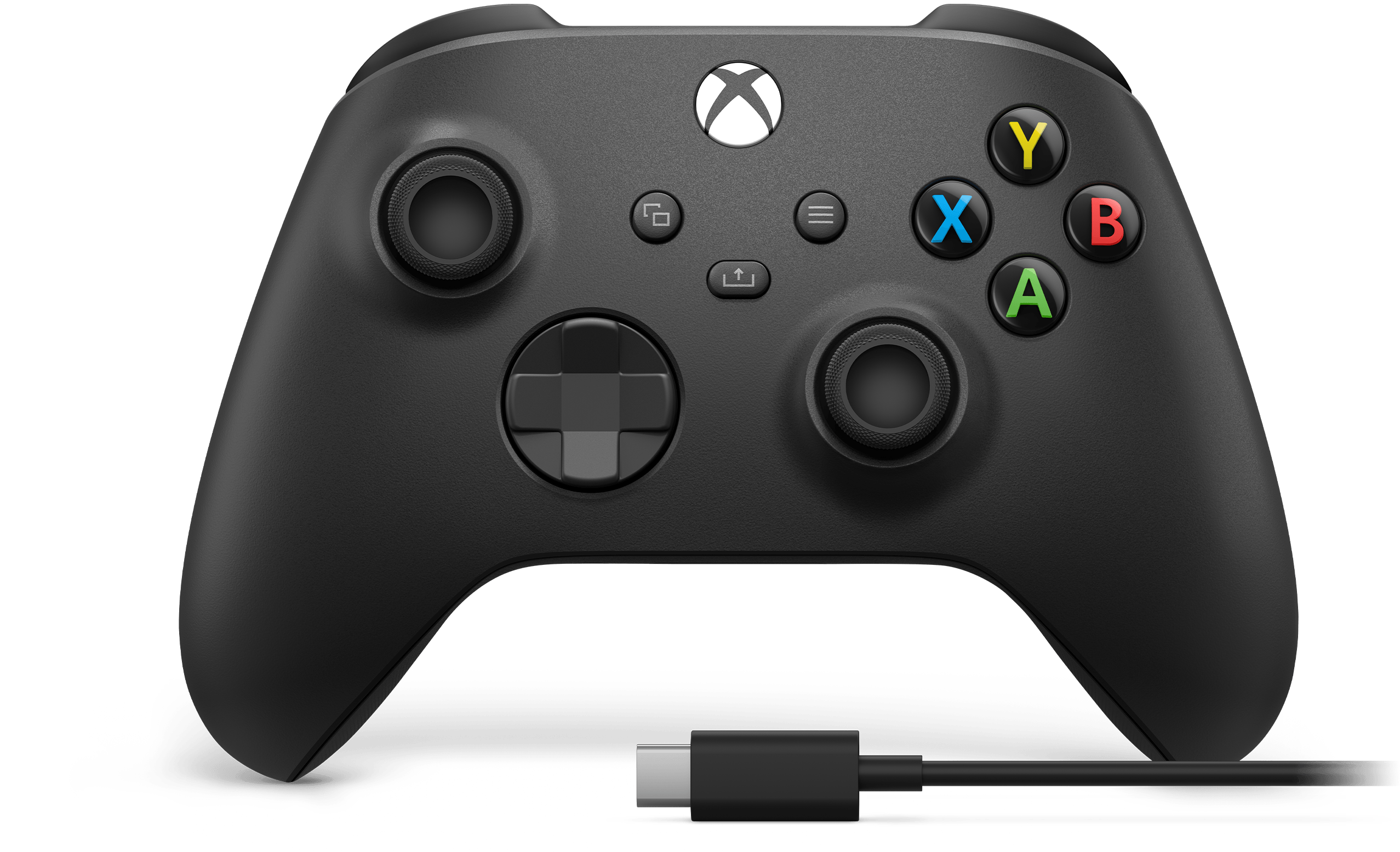 Xbox Wireless Controller + USB-C® Cable Experience the modernised Xbox Wireless Controller, designed for enhanced comfort during gameplay for supported consoles, PCs, and mobile phones or tablets. Play wirelessly or use the included 2.7 m (9 ft) USB-C cable for a wired gaming experience*