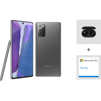 Samsung Galaxy Note20 128GB Phone + Microsoft 365 + Galaxy Buds