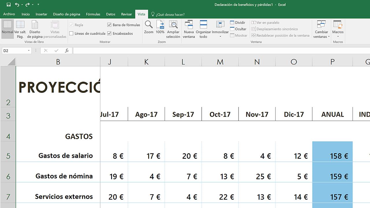 Inmovilizar Paneles Para Bloquear Filas Y Columnas Excel