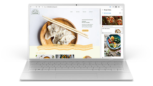 Laptop computer showing Microsoft Edge browser on screen