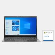 EVOO Ultra Thin EVC141-6BK Laptop + One Year of Microsoft 365 Personal