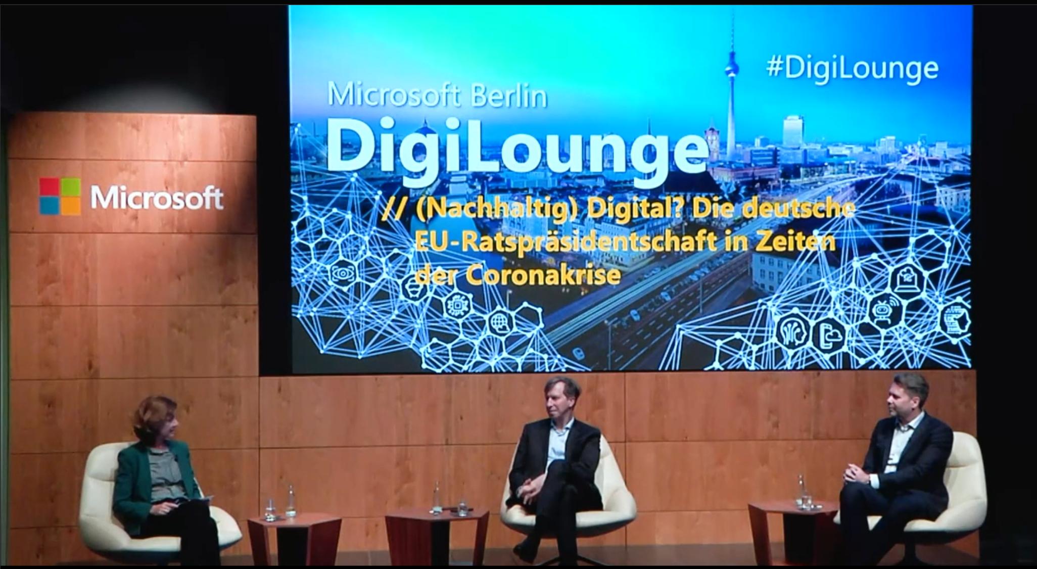 Thumbnail zu DigiLounge // (Nachhaltig) Digital? Die deutsche EU-Ratspräsidentschaft in Zeiten der Corona-Krise