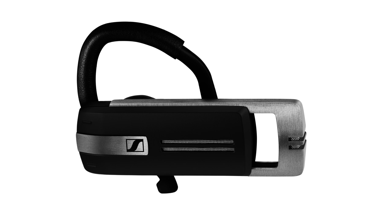 Horizontal view of the ADAPT Presence Grey UC Headset with extended speaker