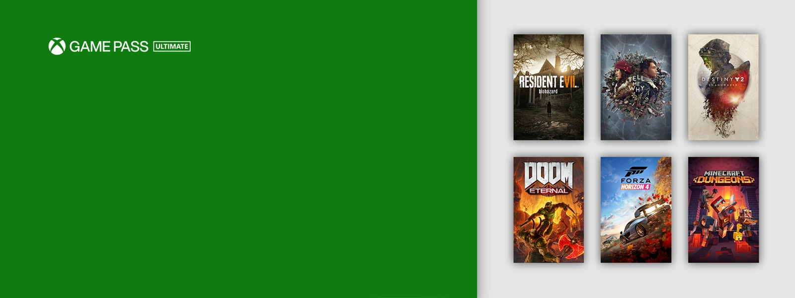 Xbox Game Pass Ultimate logo and digital games.