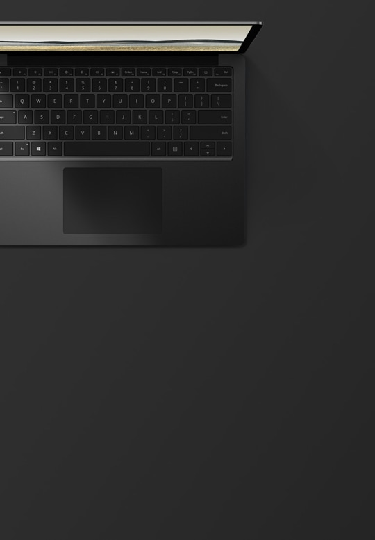 "13.5"" Surface Laptop 3 in Matte Black top down view"
