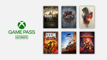 Logo di Game Pass Ultimate e giochi