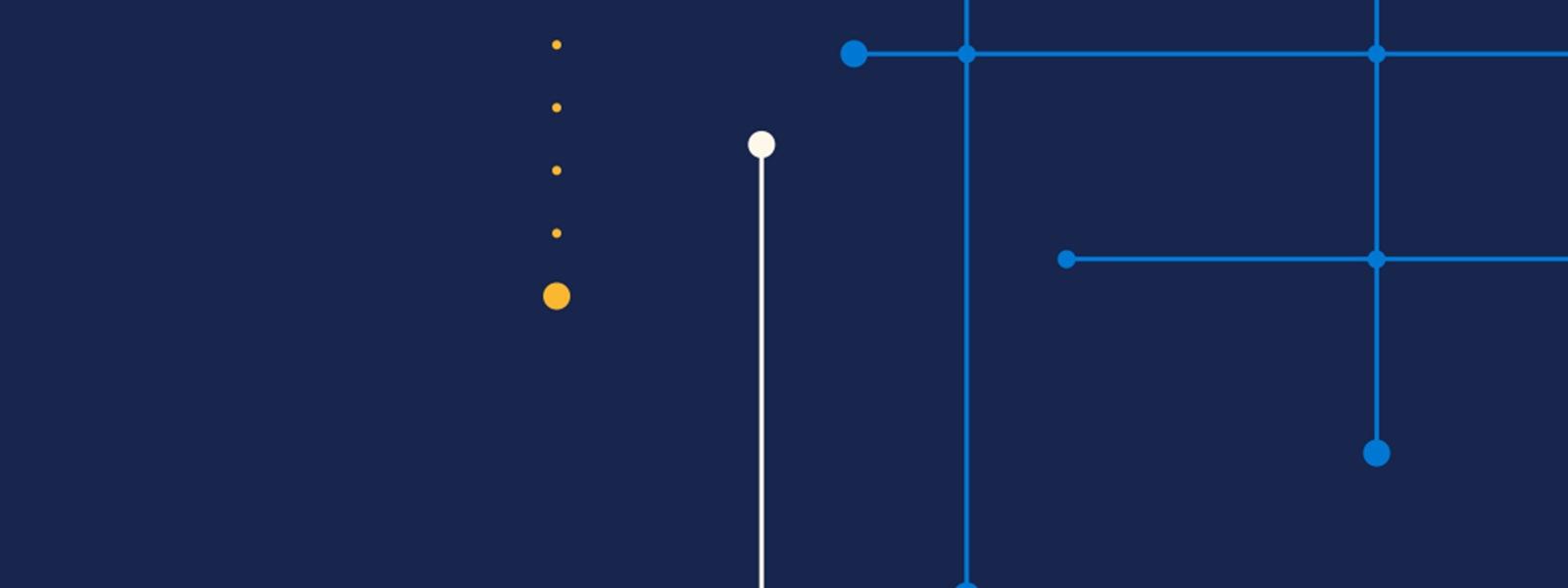 Eine Illustration von quer laufenden Linien für das Microsoft Envision Forum 2020