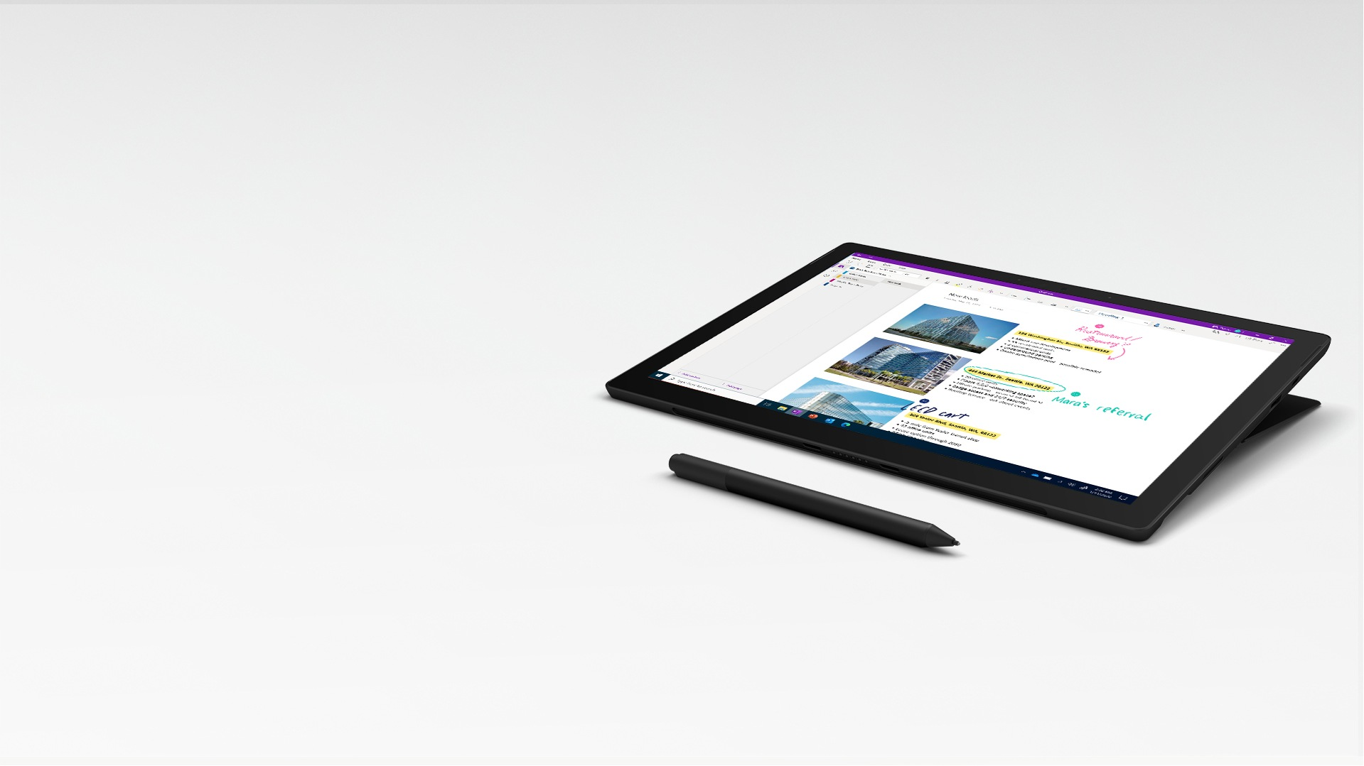 Drawboard on Surface Pro 7+ in Studio Mode with Surface Slim Pen