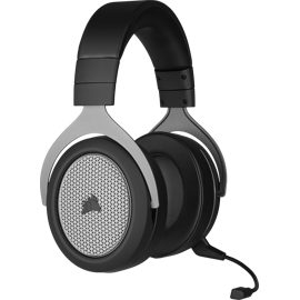 Vue de face gauche du casque de jeu SANS FIL CORSAIR HS75 XB pour Xbox Series X et Xbox One